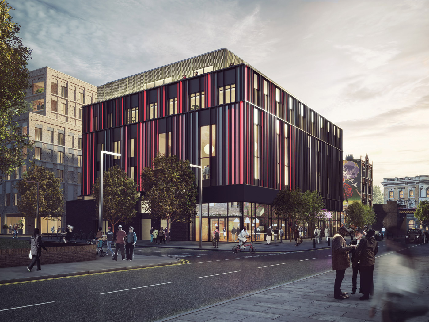 Architectural rendering of the outside of Brixton House