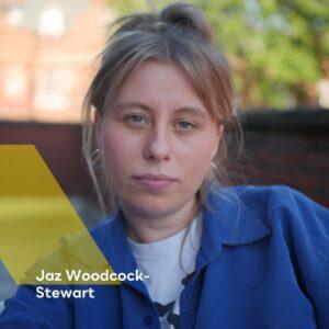 A photograph of Jaz Woodcock-Stewart