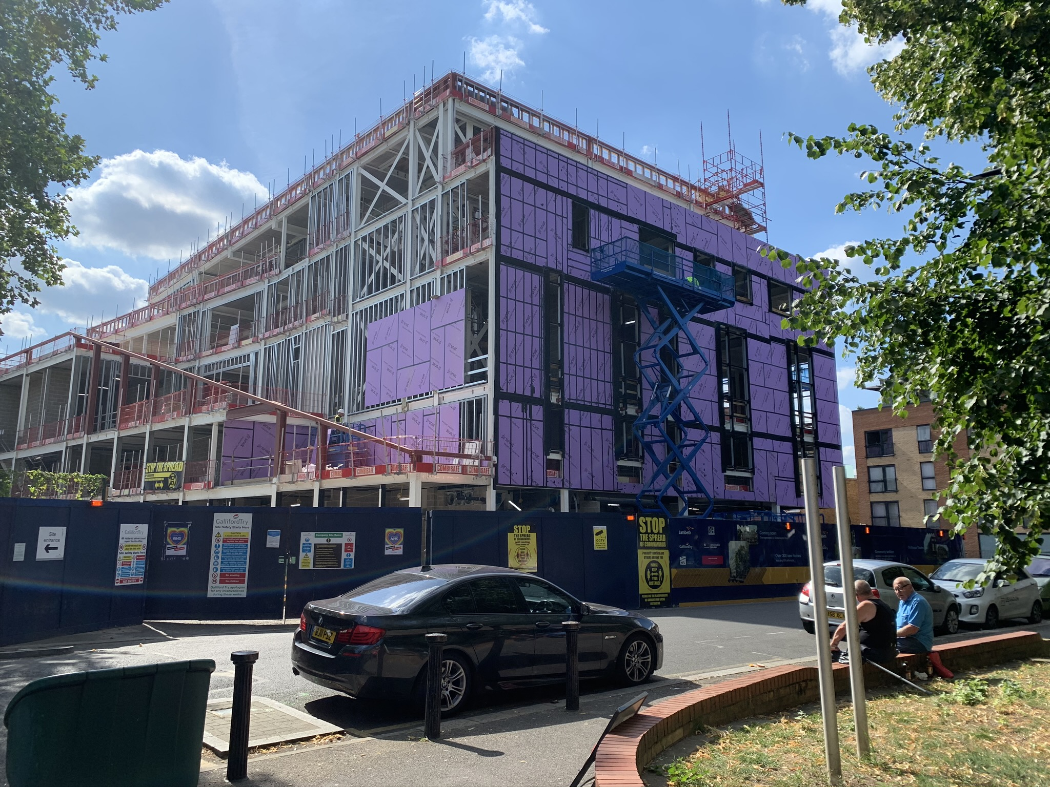 Brixton House in construction in 2020.